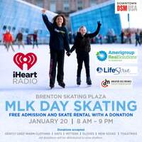 Brenton Skating Plaza Day of Giving - Skate Free, January 20th, With a Warm Clothing Donation