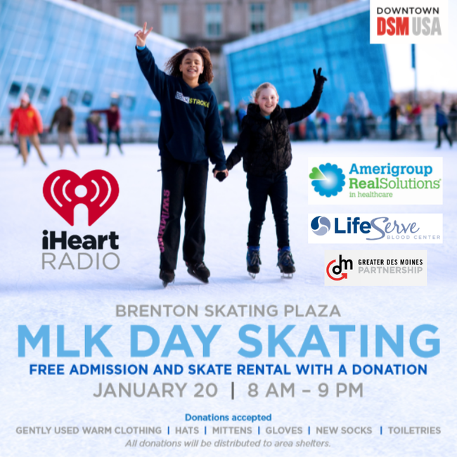 Brenton Skating Plaza - Day of Giving 1/20 - Skate Free with Warm Clothing Donation