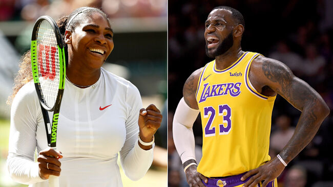 Serena Williams, LeBron James