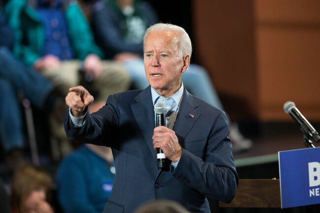 Presidential Candidate Joe Biden Holds Campaign Town Halls In New Hampshire
