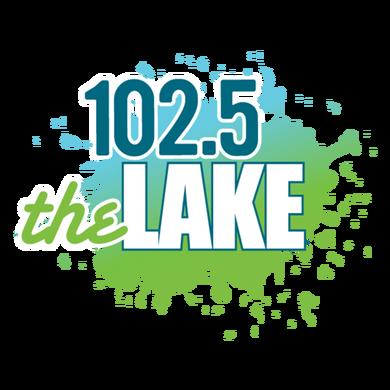102.5 The Lake logo