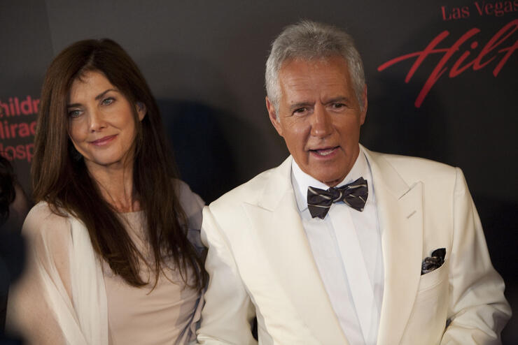 Actor Alex Trebek (R) and wife Jean Curr