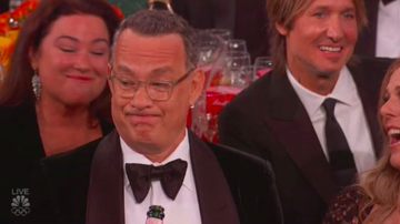 Ryan Seacrest - Tom Hanks' Reaction to Ricky Gervais' Monologue Is Officially 2020's Meme