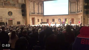 image for VIDEO: During Adam Bello's Inauguration.. Student Forgets Words To Anthem