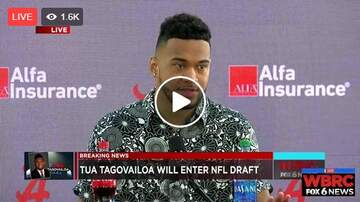 Amber Parker - Alabama Quarterback Tua Tagovailoa is Going to the NFL Draft