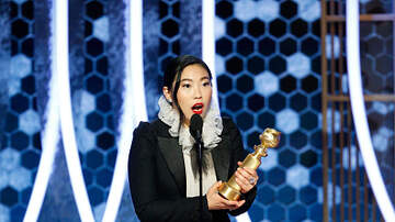 Madison - Actress Awkwafina got a special gift from Aquafina after Golden Globes!