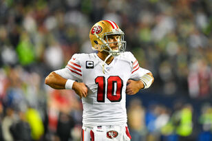 Jimmy Garoppolo ready for 1st playoff start for 49ers | #KFANVikes