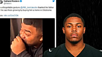 The Locker Room - Previously Homeless Raiders' RB Josh Jacobs Gifts Tearful Father With House