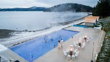 Northwest News - Coeur d'Alene Resort transforms infinity pool into giant hot tub