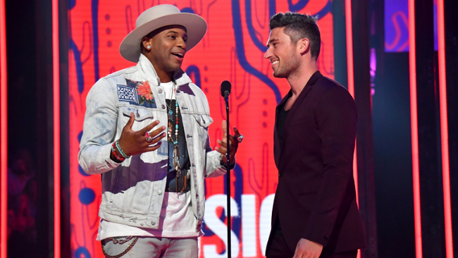 Jimmie Allen Gives Michael Ray Parenting Advice For The Future