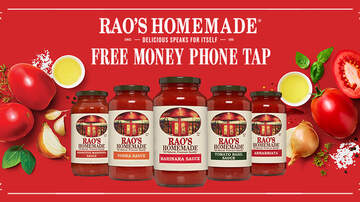 image for Elvis Duran Show's Rao's Homemade Free Money Phone Tap Sweepstakes Rules