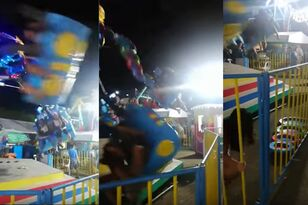 Terrifying Video Shows Rider Get Thrown From Spinning Carnival Ride