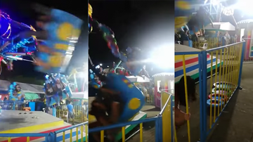 Weird, Odd and Bizarre News - Terrifying Video Shows Rider Get Thrown From Spinning Carnival Ride