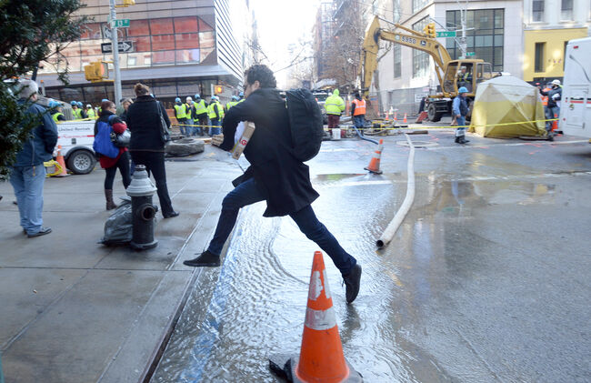 Greenwich Village Water Main Break