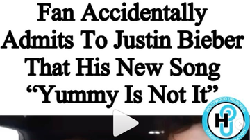 image for A Fan tells Justin Bieber Yummy wasn't that great
