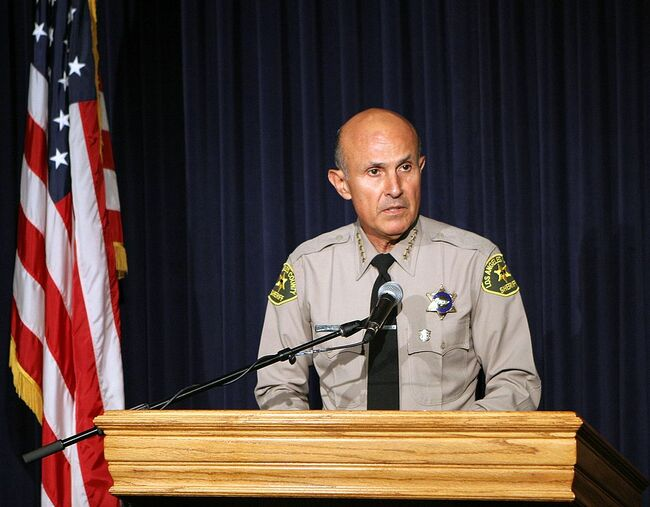 Sheriff Lee Baca Holds Press Conference Regarding The Paris Hilton Case