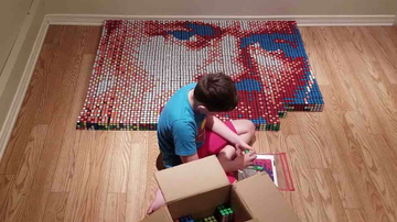 image for 9-Year-Old Boy's Superpower Helped Him Create A Rubik's Cube Portrait Of