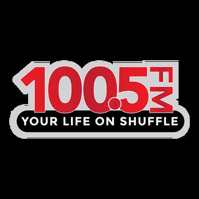 100.5 FM logo