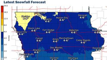 WOC Local News - Snow, ice, wind, cold this weekend Nebraska-Iowa-Illinois SNOW MAPS
