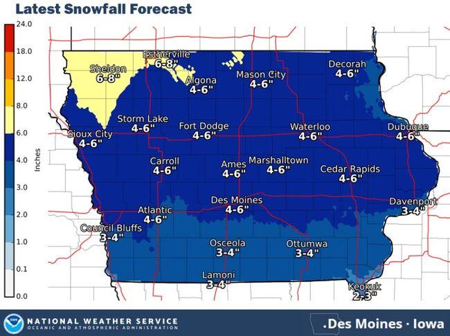 Snow, ice, wind, cold this weekend Nebraska-Iowa-Illinois SNOW MAPS
