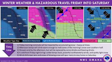 1110 KFAB Local News - Snow, ice, wind, cold this weekend Nebraska and Iowa SNOW MAPS