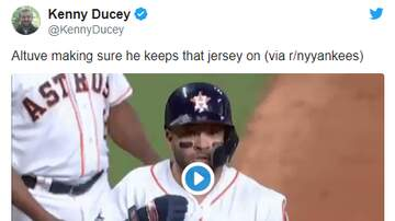 Follow Along With The Show - Videos Seem To Confirm Altuve Was Hiding Something Underneath His Jersey!