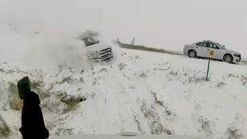 1110 KFAB Local News - VIDEO Pickup flies off icy I-80, slams into delivery truck already in ditch