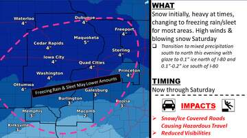 WOC Local News - Winter Storm Warning Quad Cities, then bitter cold WEATHER MAPS