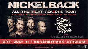 None - Nickelback & STP Coming to Hershey