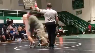 Chuck Dizzle - Father Attacks Son's Opponent During High School Wrestling Match