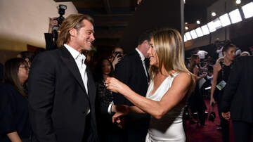 Entertainment News - Brad Pitt Yelled To Get Jennifer Aniston's Attention At SAG Awards 2020