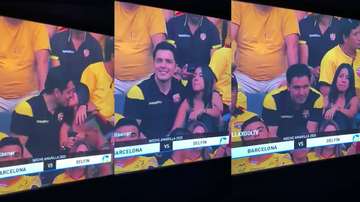 Weird, Odd and Bizarre News - Cheating Man At Soccer Game Gets Caught With Side Chick On TV