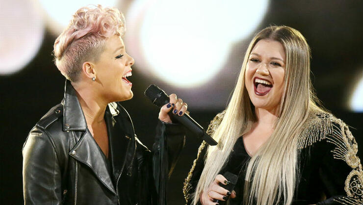 Kelly Clarkson Co-Signs Pink's Pledge To Age Gracefully With One Exception   iHeartRadio