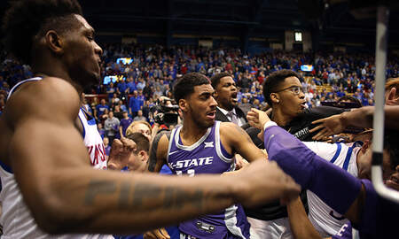 Sports Top Stories - Fists Fly In Final Seconds Of Kansas, Kansas State Rivalry Game