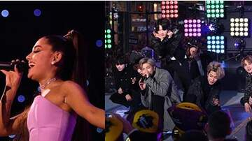 image for Ariana Grande & BTS During Grammy Rehearsal... YOU READ RIGHT!