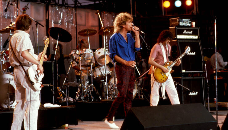 Photo of LIVE AID and LED ZEPPELIN and Robert PLANT and Jimmy PAGE