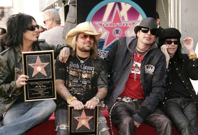 Motley Crue Receives A Star On The Hollywood Walk Of Fame