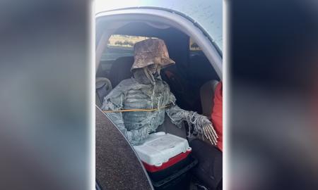 National News - Arizona Man Tries Using Dressed Up Fake Skeleton to Drive in HOV Lane