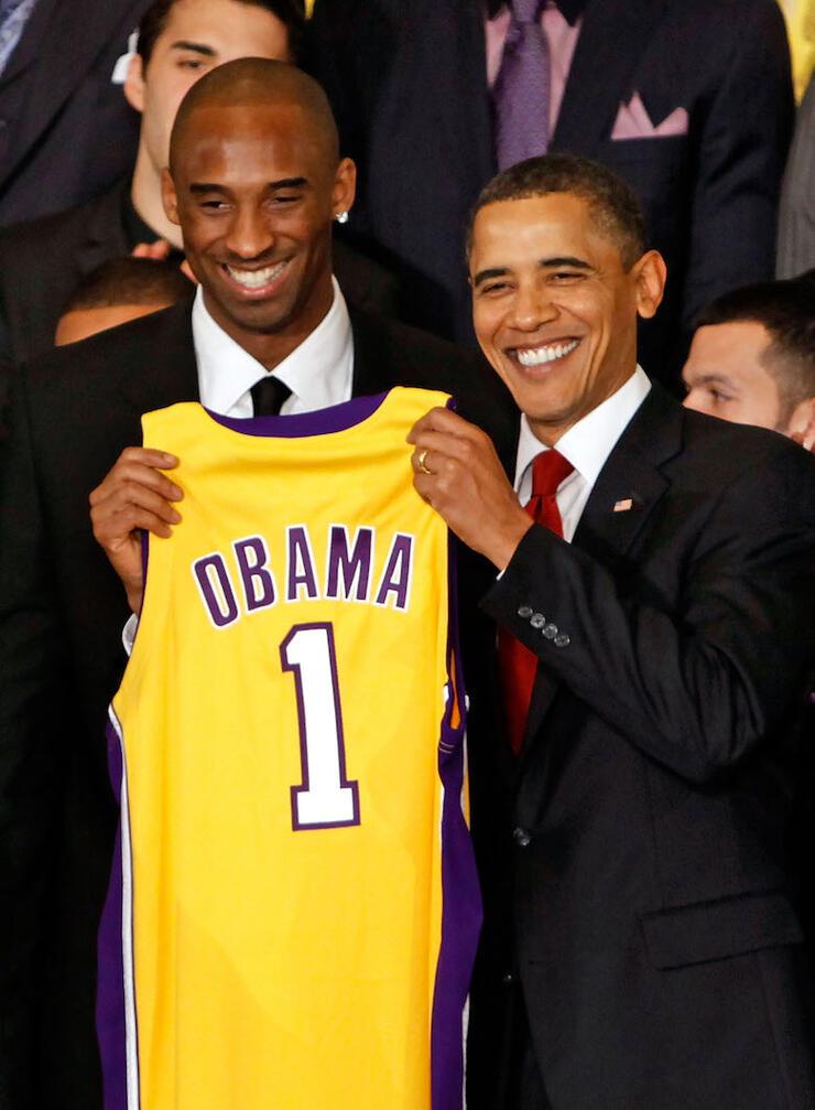 NBA Champions LA Lakers Visit President Obama At White House