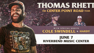 image for Thomas Rhett with Cole Swindell and HARDY at Riverbend