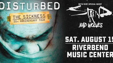 image for Disturbed with very special guests Staind and Bad Wolves