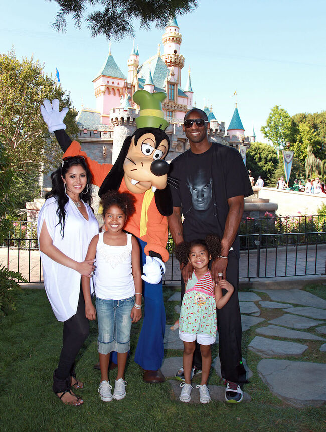 Kobe Bryant And Family Celebrate NBA Championship At Disneyland