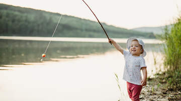 image for Little kid is excited for fish