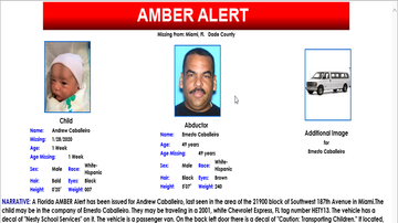 Florida News - Van Wanted in Miami Amber Alert Found, Also a Man's Body