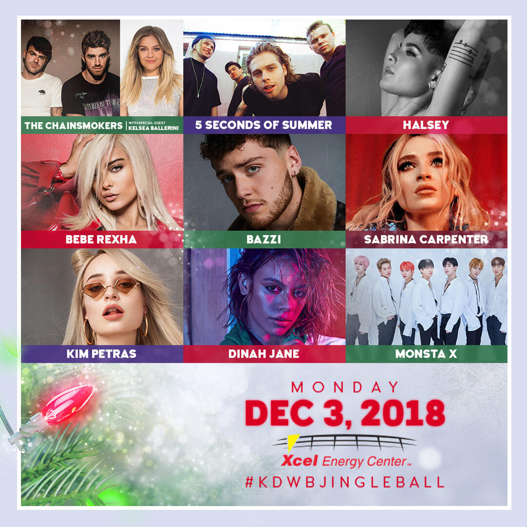 Our 2018 #KDWBJingleBall Lineup