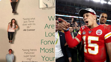 image for Patrick Mahomes Friend Posts Yearbook Where He Predicted Super Bowl Win