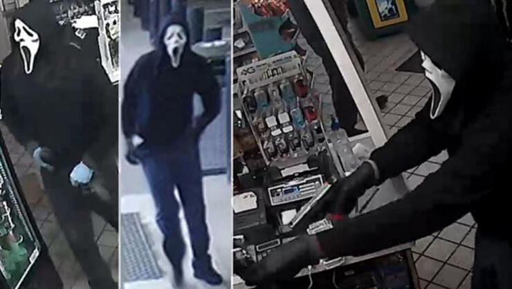 "Armed Suspect in Virginia wearing ""Scream"" mask accused of robbing five gas stations"