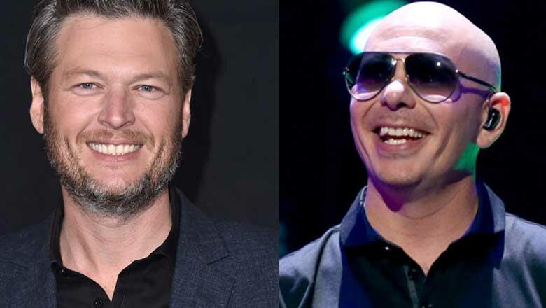 """Get Ready"" Blake Shelton + Rapper Pitbull Are Collaborating"