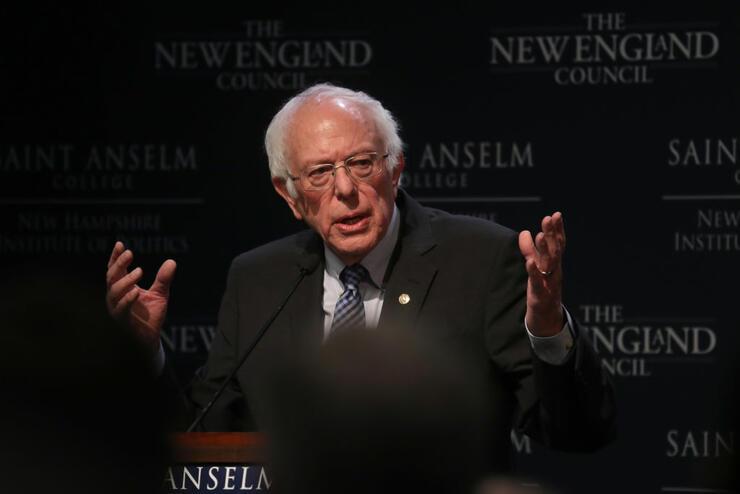 Democratic Presidential Candidate Sen. Bernie Sanders (I-VT)Speaks To Voters At Saint Anselm College