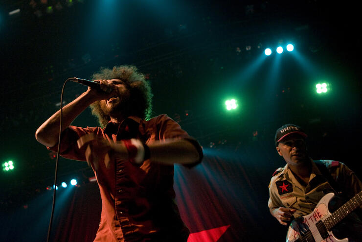 Rage Against The Machine Play The Target Center During The RNC